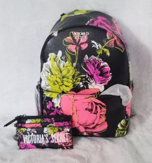 Mini Floral Backpack and card wallet
