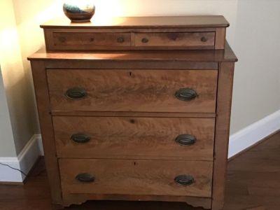 Antique pine chest