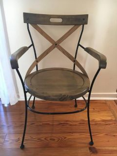 Accent Chair - Wooden/Black Campaign $80