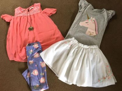 Carters size 6/6x unicorn outfit