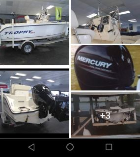 Trophy plus 19' center console boat