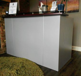STANDING RECEPTION DESK AND CHAIR