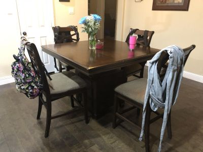 4 Foot square pub style dining room table