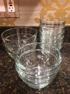 Pampered Chef Glass Prep Bowl Sets-1c (6), 2c (2) and 3c (2)