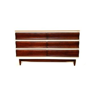 VINTAGE MCM DRESSER IN WHITE AND WOOD