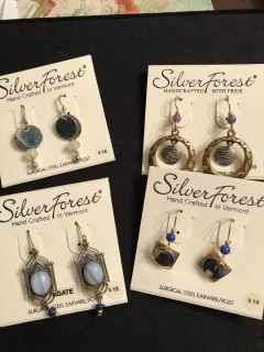 NWT group of earrings. Rep samples. Surgical steel wires. Ppu