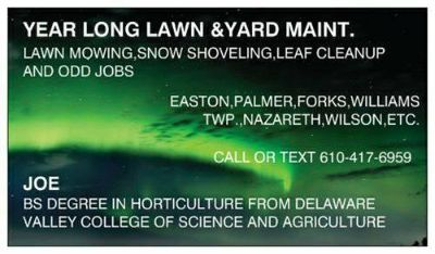Lawn care and yard maintenance and snow work