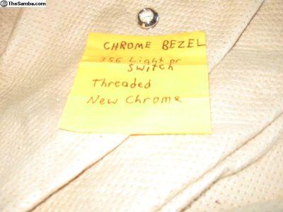 Chrome switch bezel with new chrome