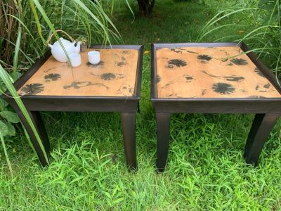 Hand Stained Koi Pond Coffee Tables