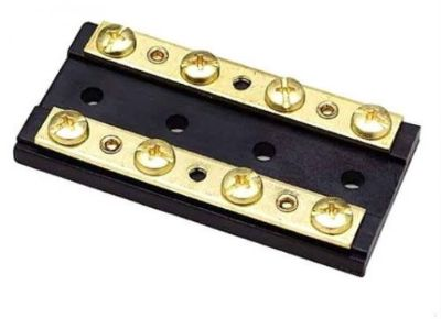 Find SeaChoice 4 Gang Terminal Block Buss Bus Bar Brass Hardware 30A @ 12V 13501 motorcycle in Valley Head, Alabama, United States, for US $10.19