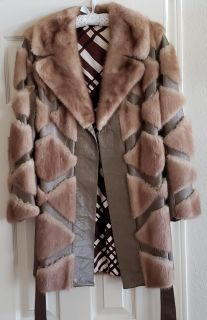 Women's Mink and Leather Jacket