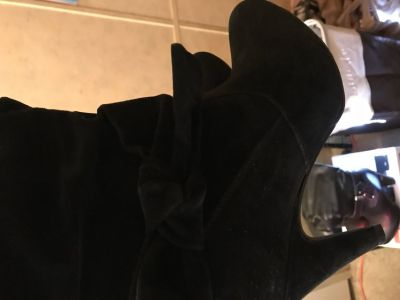 Black suede Boots 8 1/2