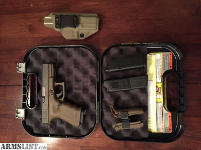 For Sale: GLOCK 19 GEN 4 FLAT DARK EARTH with TULSTER HOLSTER