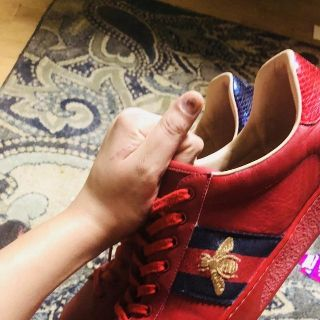 100% real guccis size 12 - 11.5