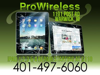 iPad Glass Digitizer repair Service / Broken or Shattered
