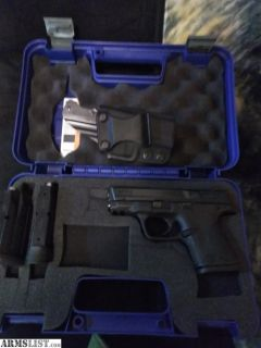 For Sale: S&W M&P9c, 3 12rd mags plus galco holster