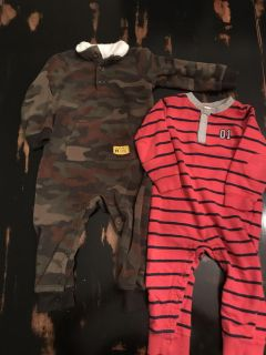 Lot of 2 Carter s 24 month Coveralls
