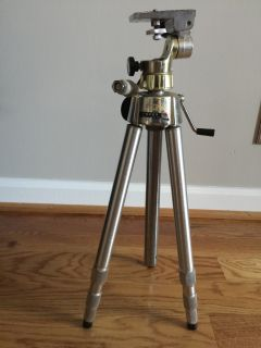 QUICK SET HOBBY DELUXE ELEVATOR 440 ADJUSTABLE TRIPOD MADE IN USA