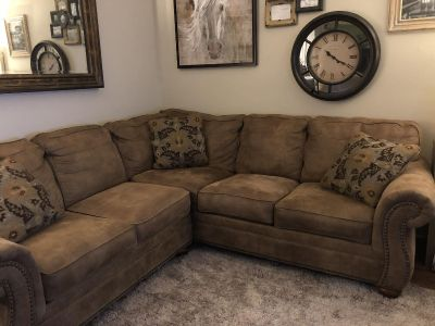 Sectional sofa couch microfiber suede