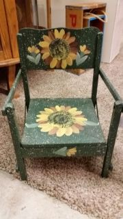 Chair-hand painted