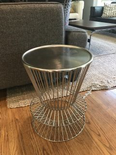 Decorative metal side table