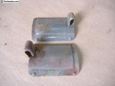 VW Bug steel vent sliders 58 - 67 yr