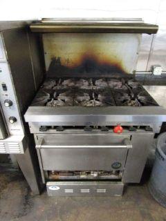 "Garland 36"" 6 Burner Gas Range W/ Oven RTR#8023568-11"