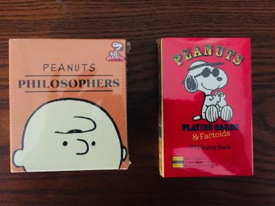 Brand new Peanuts mini books and playing cards