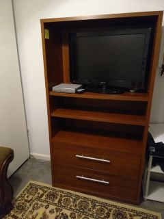 Brown large Bookcase/ TV Stand