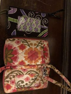 Vera Bradley coin purse and small wallet