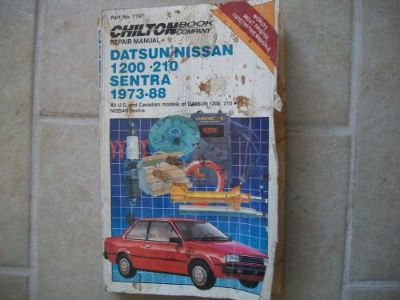 Sell Chilton Repair Manual #7197: Nissan/Datsun 1200, 210, Sentra - 1973-1988 motorcycle in Golden Valley, Arizona, United States, for US $5.40