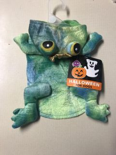 Small pet costume-frog, new with tags