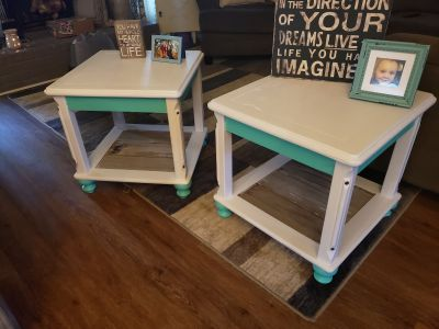 Super cute side tables/ night stands/ porch tables