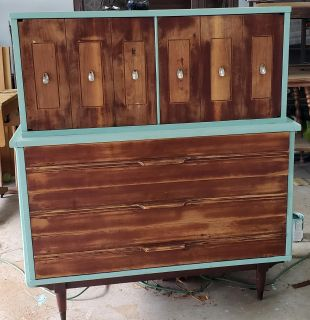 Refinished dresser w it's own style