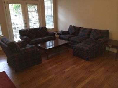$399, Very comfortable sofa set with loveseat, chair  ottoman