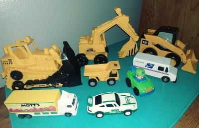 Lot of equipment toys and trucks