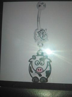 cartoon cow belly ring