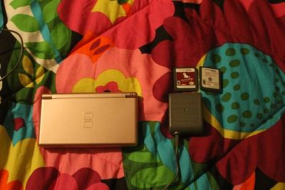 Nintendo DS with Two Games and Charger