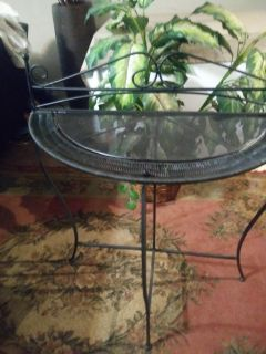Wrought iron beautiful foldable table