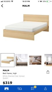 IKEA Malm queen size bed