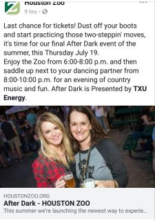 2 tickets for the zoo nights