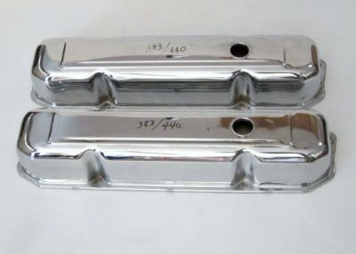 Purchase VALVE COVERS 1-Pair, Mopar 383-440 V8, chrome steel, used motorcycle in Sparks, Nevada, United States, for US $15.00