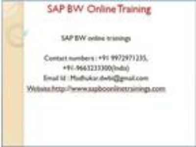 SAP BW Training and Tutorial Online With Certification Course