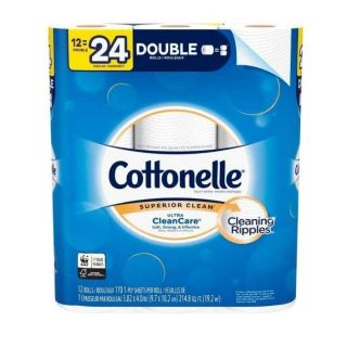 Cottonelle Ultra Clean Care Toilet Paper- 4 of 6