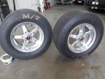 Purchase Mickey Thompson and Wheels for Mustang 2005 and up 5.250 back spacing motorcycle in Hallandale, Florida, United States, for US $450.00