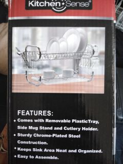 New in box chrome plated dish strainer