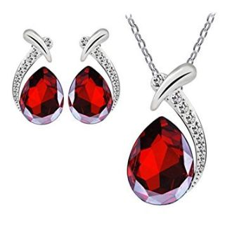***BEAUTIFUL Red Pendant & Earring Set***BRAND NEW