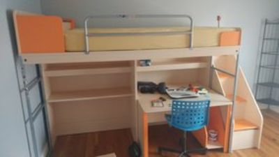 T shaped bunk bed