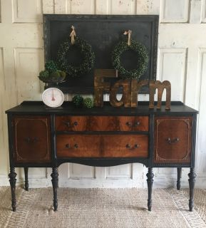 Antique Buffet- Black