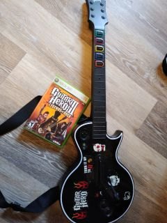 Gibson guitar hero controller and game